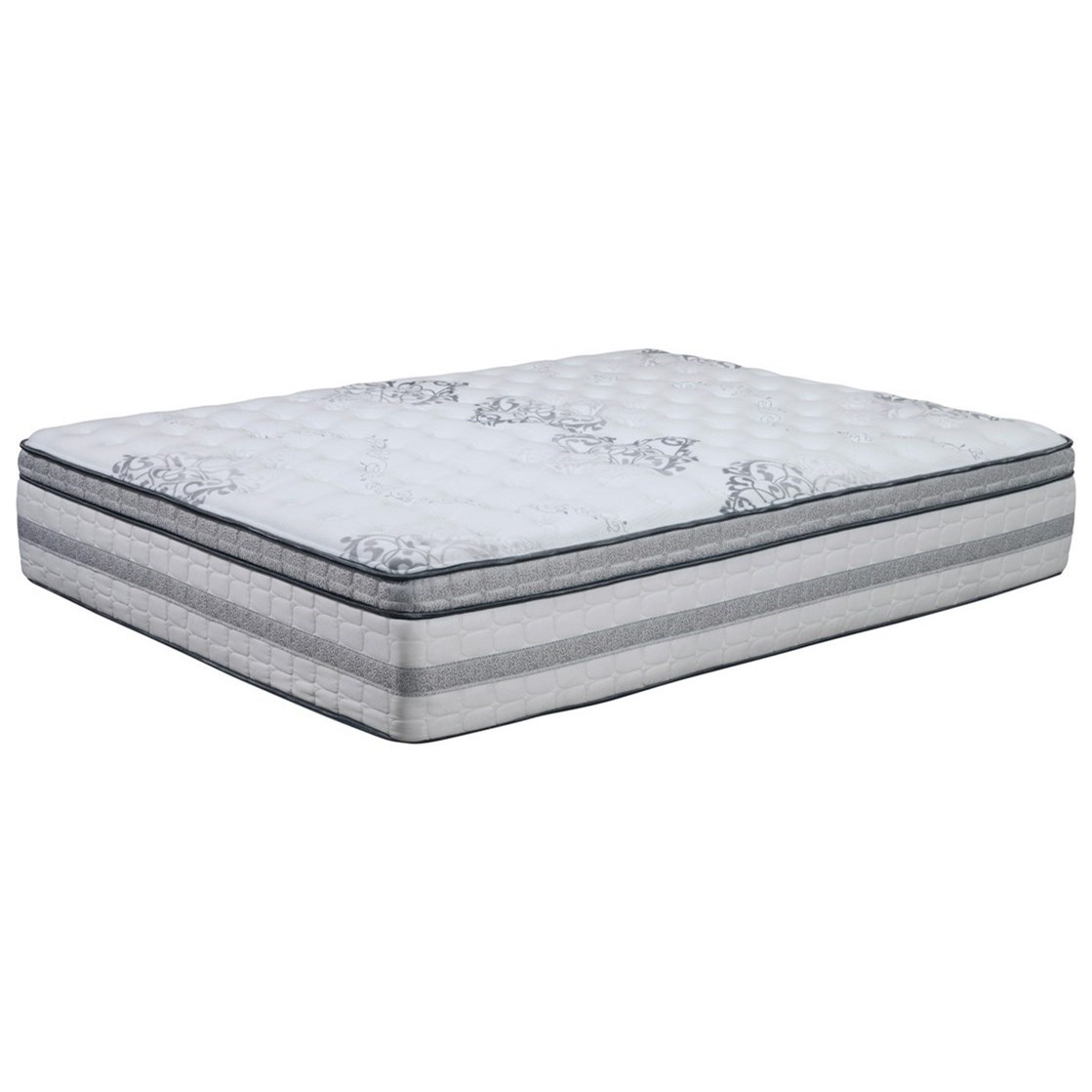 Signature ET Plush Queen Plush Pocketed Coil Mattress by Sleep Shop Mattress at Del Sol Furniture