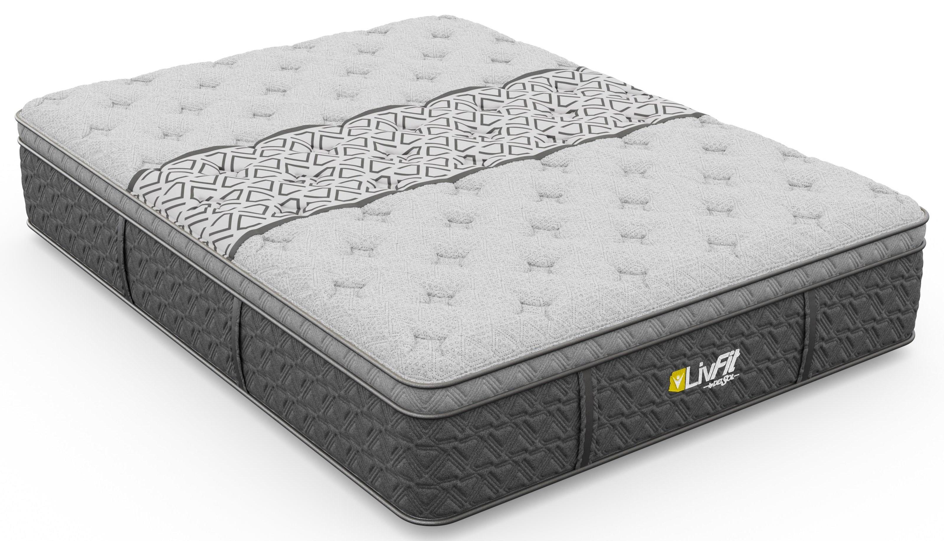 """LivFit Firm Euro Top Queen 14"""" Firm Euro Top Mattress by Sleep Shop Mattress at Del Sol Furniture"""