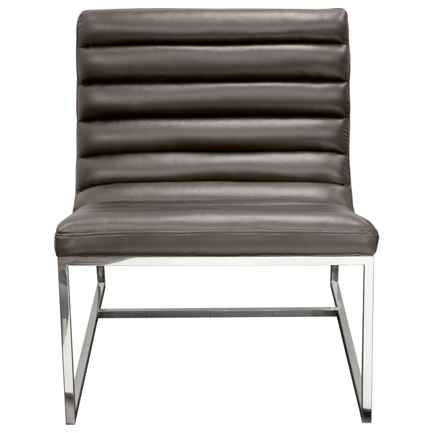 Bardot Grey Lounge Chair by Diamond Sofa at Red Knot