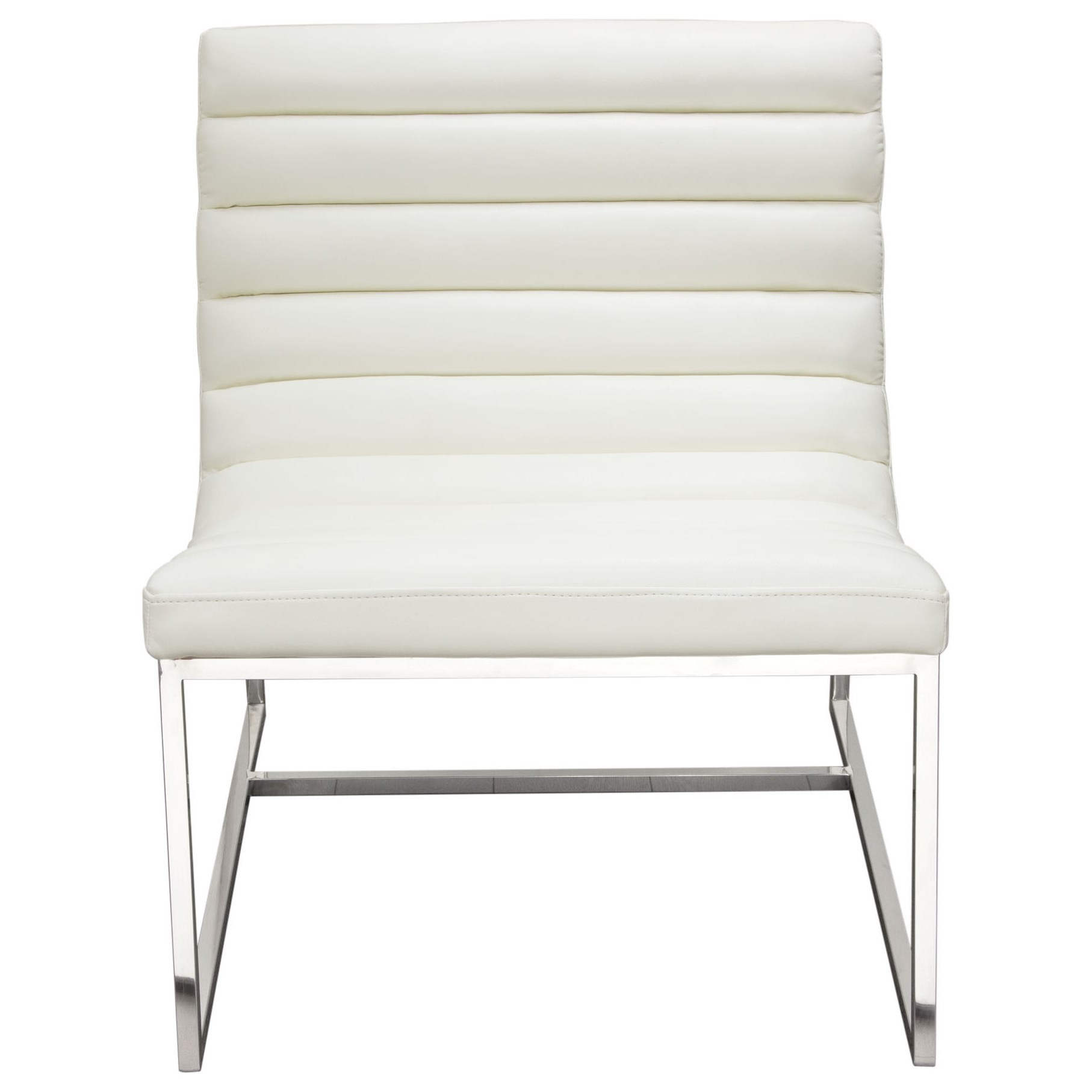 Bardot White Lounge Chair by Diamond Sofa at Red Knot