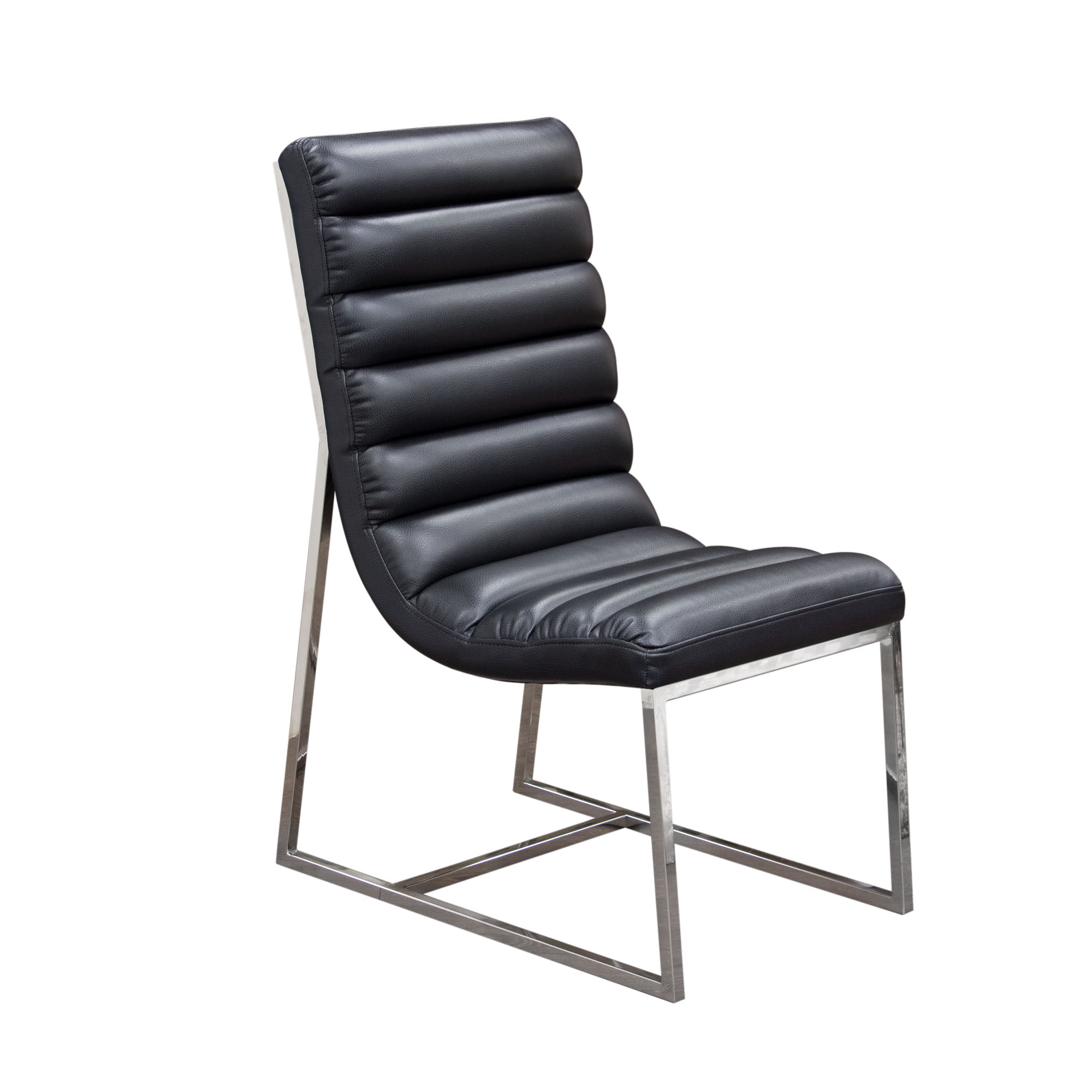 Bardot Black Set of Two Dining Side Chairs by Diamond Sofa at Red Knot