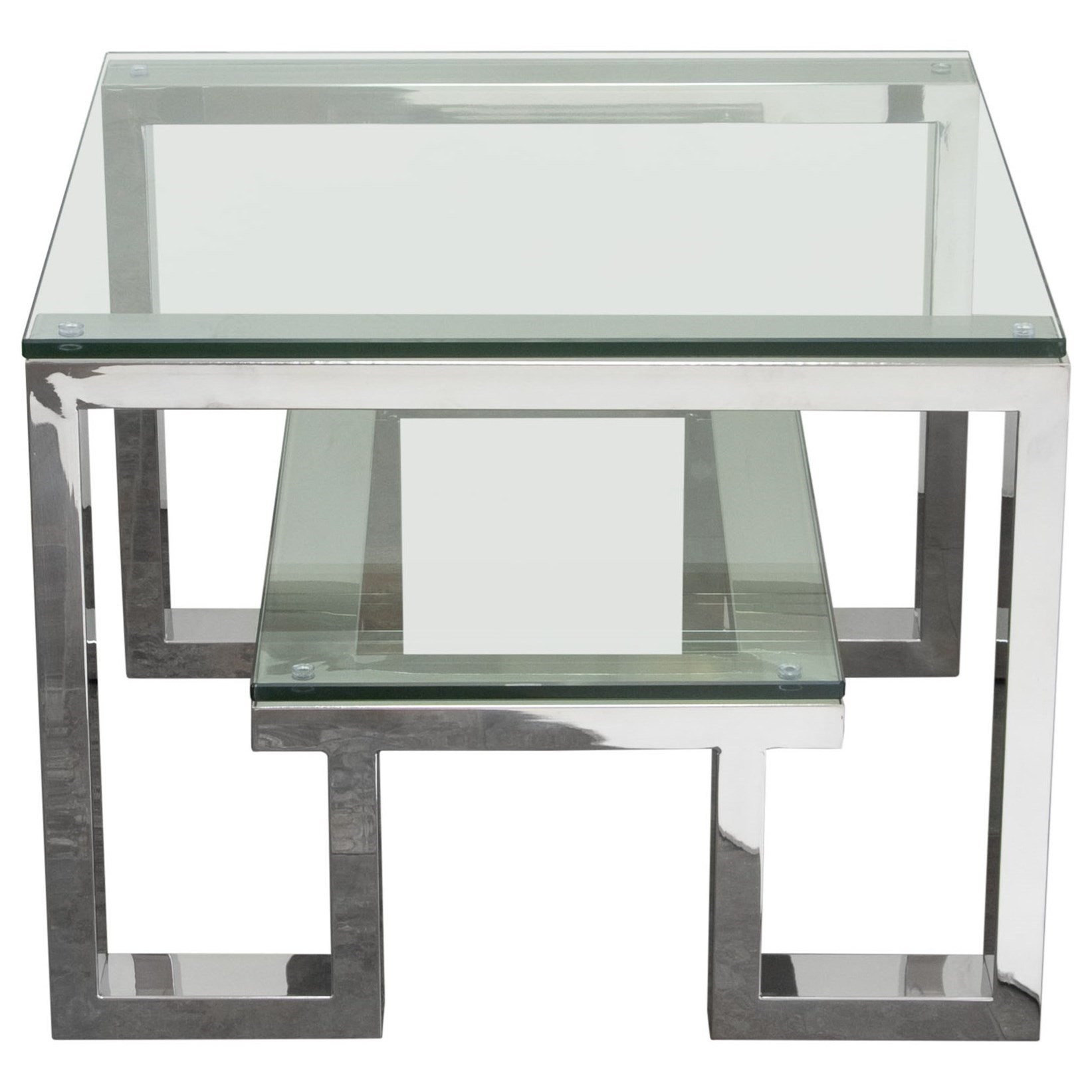 Carlsbad End Table by Diamond Sofa at Red Knot