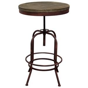 Rustic Adjustable Height Bistro Table