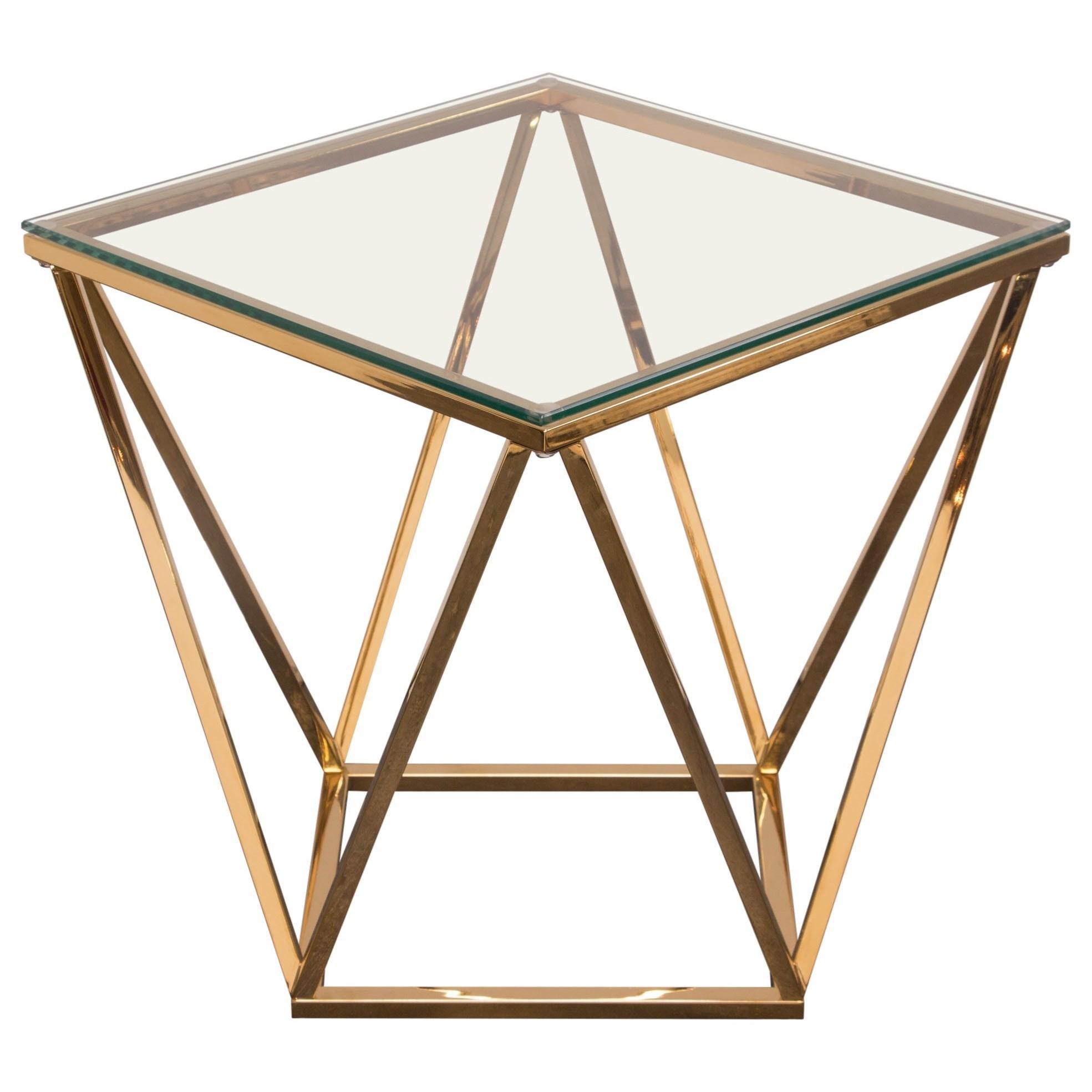 Gem End Table by Diamond Sofa at HomeWorld Furniture