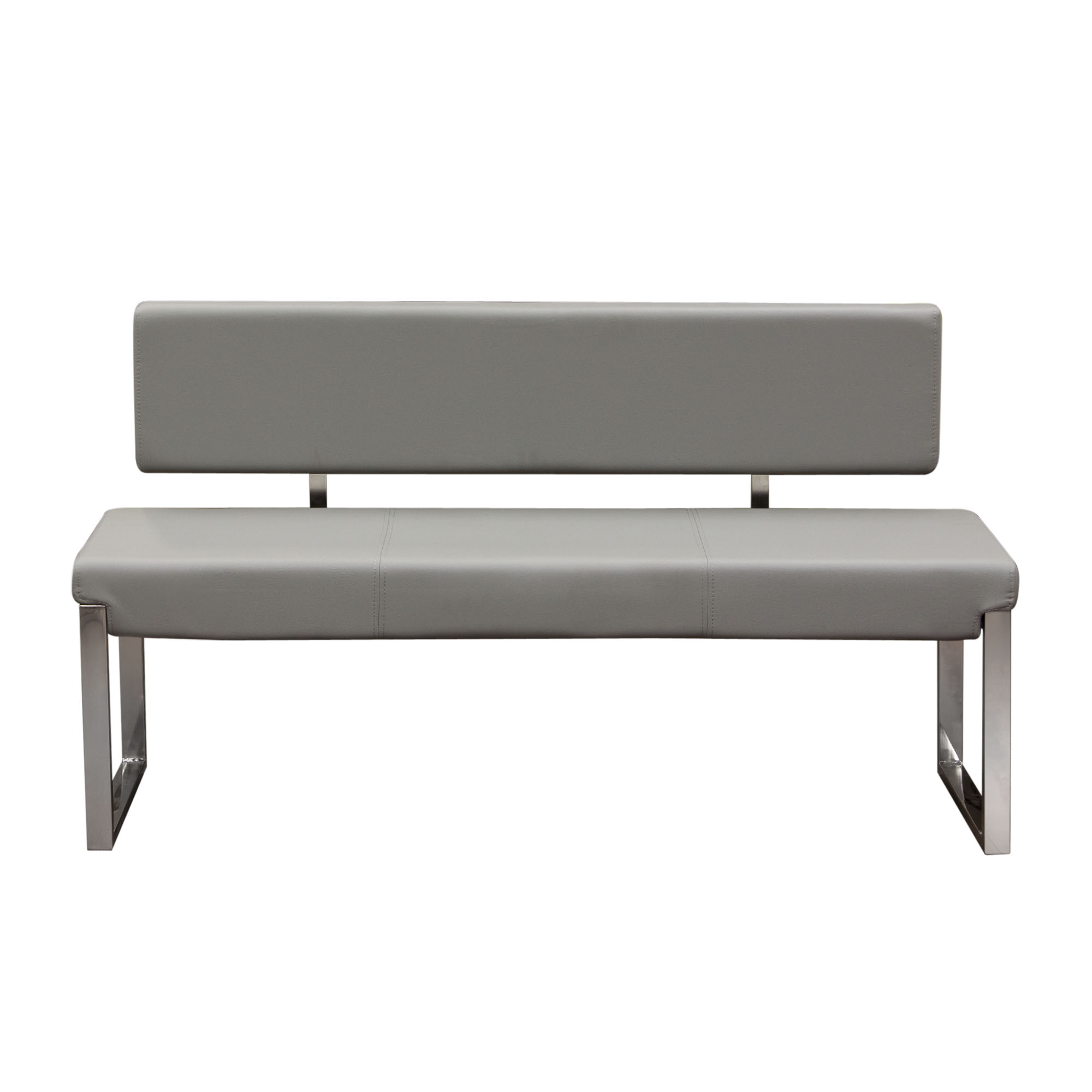 Knox Grey Bench with Back by Diamond Sofa at Red Knot