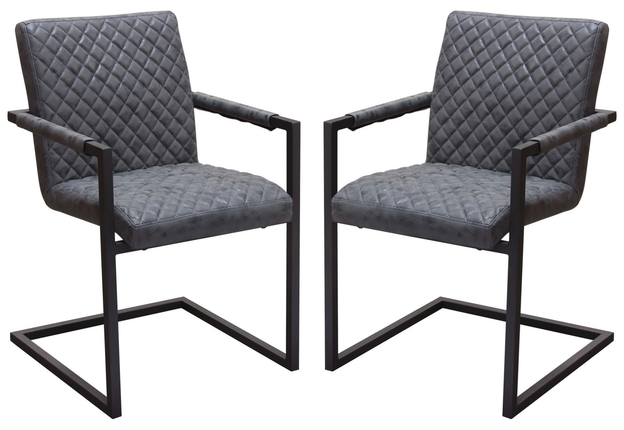 Nolan Set of Two Dining Arm Chairs by Diamond Sofa at Red Knot