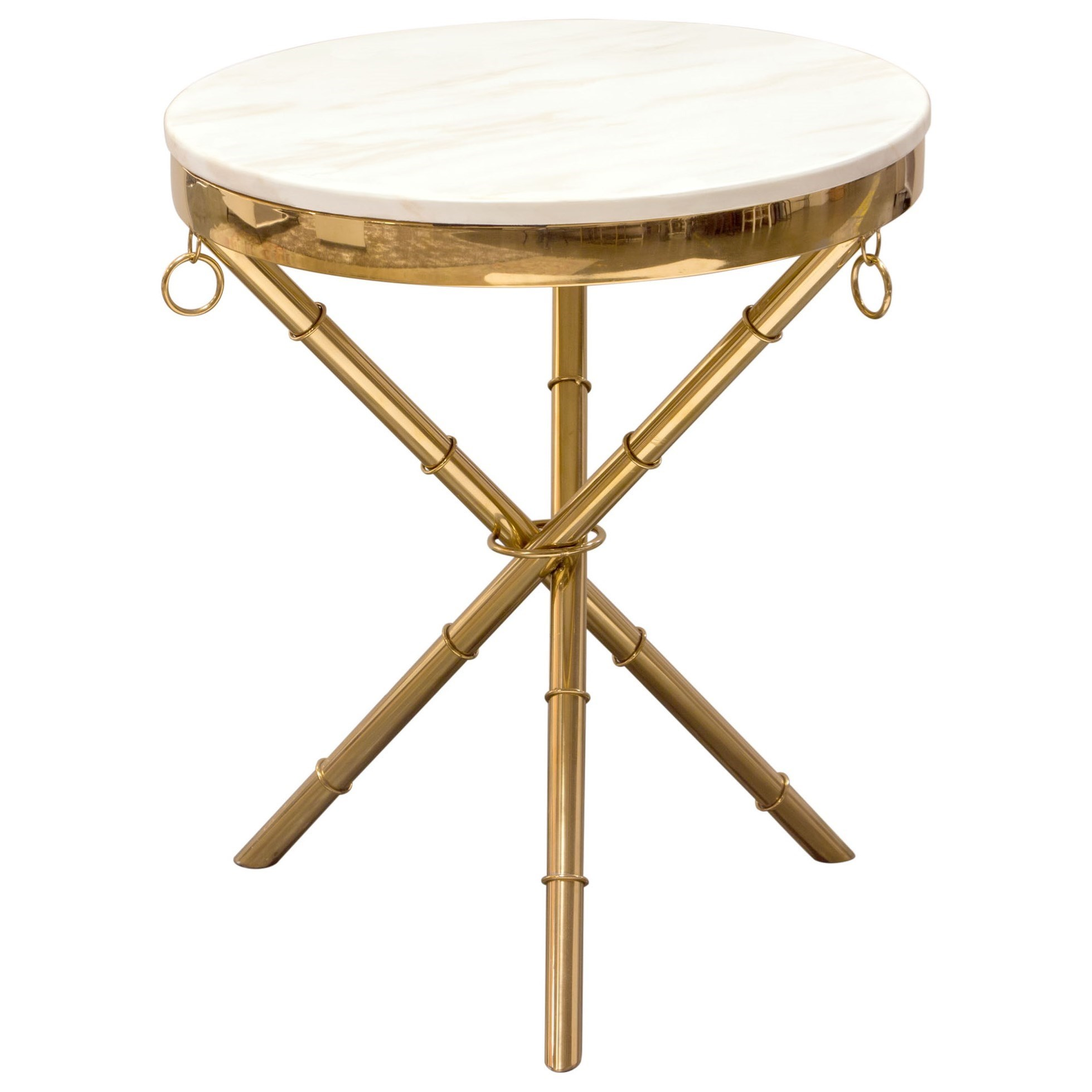 Reed Accent Table by Diamond Sofa at Red Knot