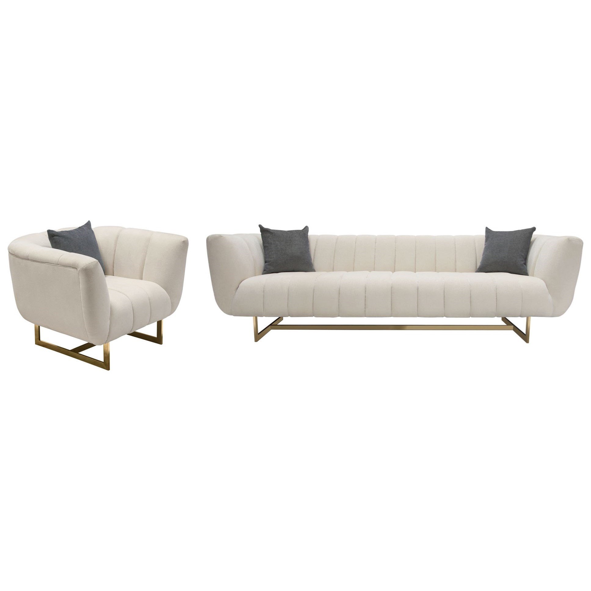 Venus Sofa and Chair Set  by Diamond Sofa at Red Knot