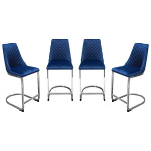 Contemporary 4-Pack Counter Height Chairs