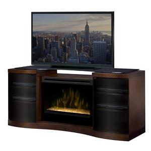 Media Console Cabinet with 33 Inch Electric Firebox