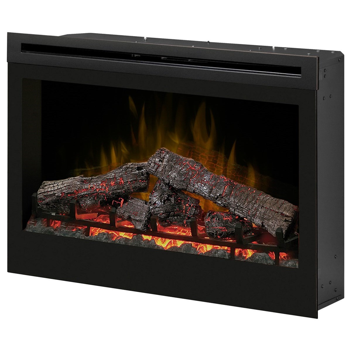"""Electric Fireboxes 33"""" Self-Trimming Log Firebox by Dimplex at Jordan's Home Furnishings"""