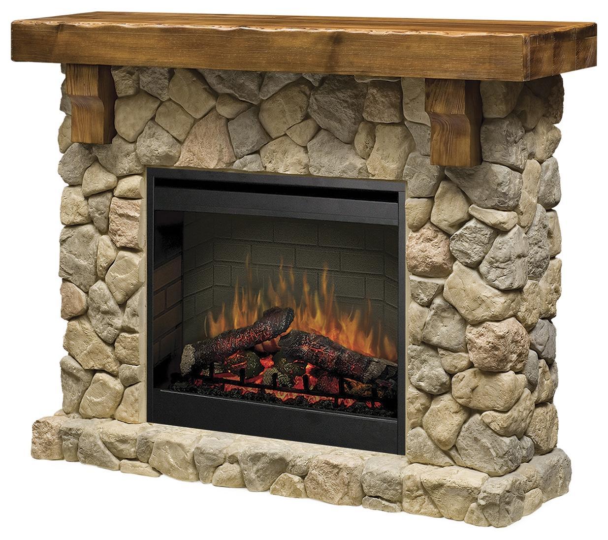 Flat-Wall Fireplaces Fieldstone Flat-Wall Fireplace by Dimplex at Jordan's Home Furnishings