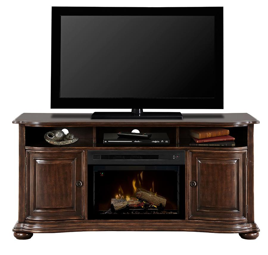Henderson Dimplex Media Console with Electric Firebox by Dimplex at Jordan's Home Furnishings