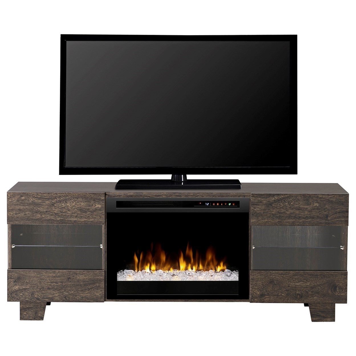Media Console Fireplaces Max Acrylic Ice Media Mantel Fireplace by Dimplex at Jordan's Home Furnishings
