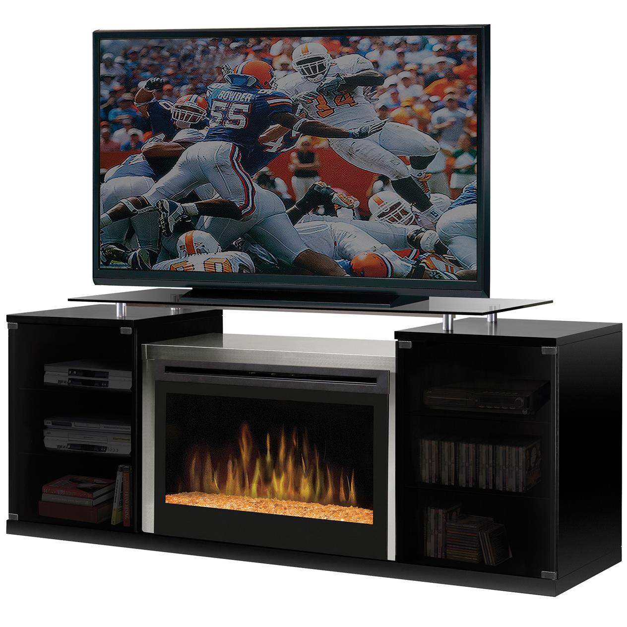 Media Console Fireplaces Marana Media Console Electrical Fireplace by Dimplex at Nassau Furniture and Mattress