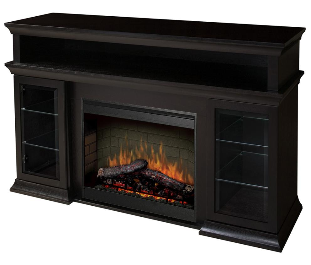 Media Console Fireplaces Bennett Media Console Fireplace with Logs by Dimplex at Nassau Furniture and Mattress