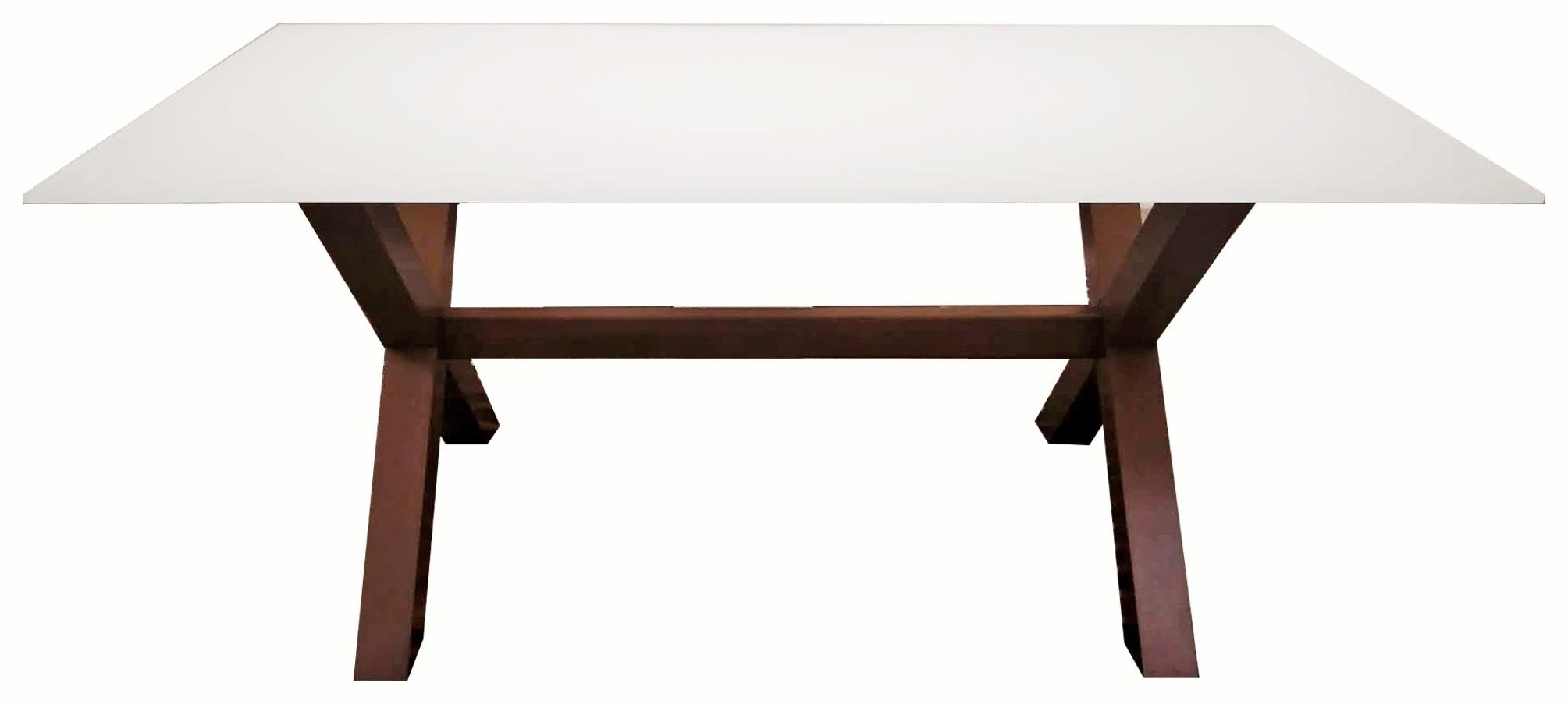 TDGL TDGL-570-T00B-729G White Glass   Table in 0W by Dinec at Upper Room Home Furnishings