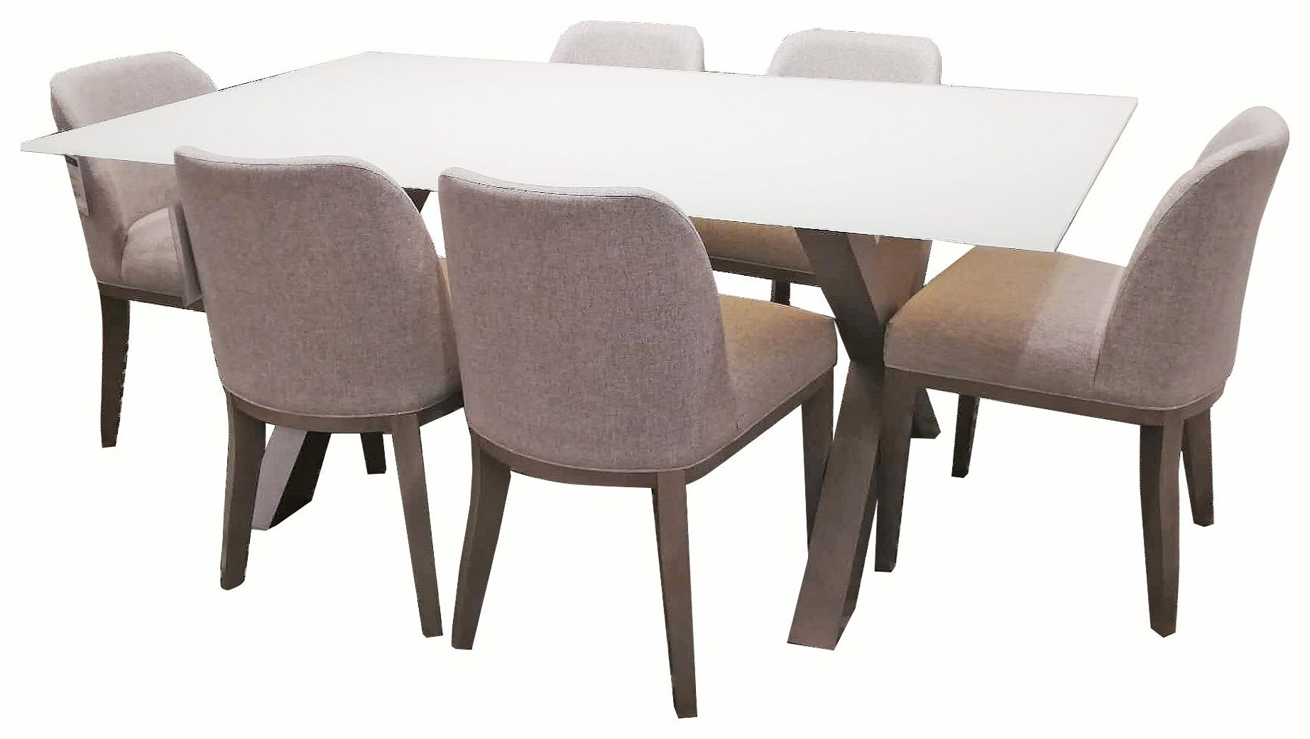 TDGL 7Pc. Dining set by Dinec at Upper Room Home Furnishings