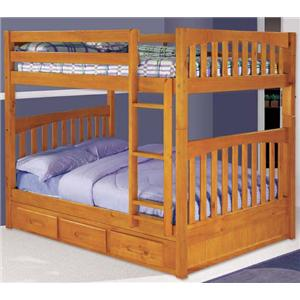 Discovery World Furniture Honey Mission Youth Twin Over