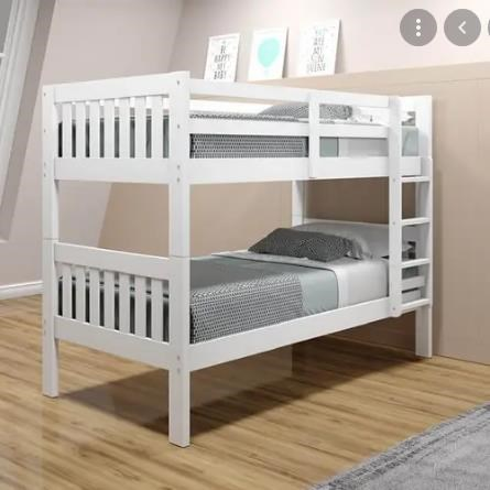 1010 White Twin over Twin Bunk bed by Donco Trading Co at Furniture Fair - North Carolina