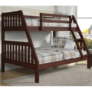 Donco Trading Co 1018 Twin over Full Bunk Bed