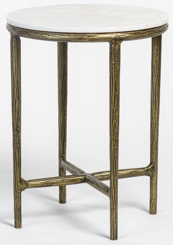 Case Accents Marble Top End Table by Taylor and Jade at Sprintz Furniture