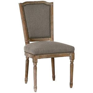 Arras Dining Chair with Nail Head Detaling