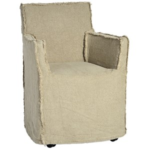 Slipcover Dining Chair with Casters