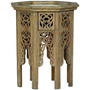 Side Table with Antiqued Mirror Top