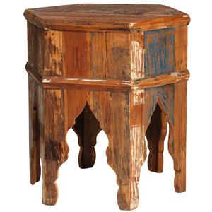 Hexagon Wood End Table
