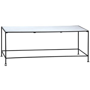 Miro Coffee Table with White Marble Top