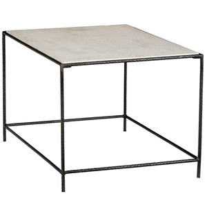 Miro Sidetable with White Marble Top