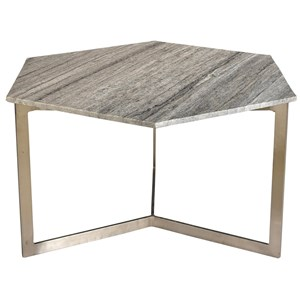 Vargo Hex Coffee Table with Gray Marble Top
