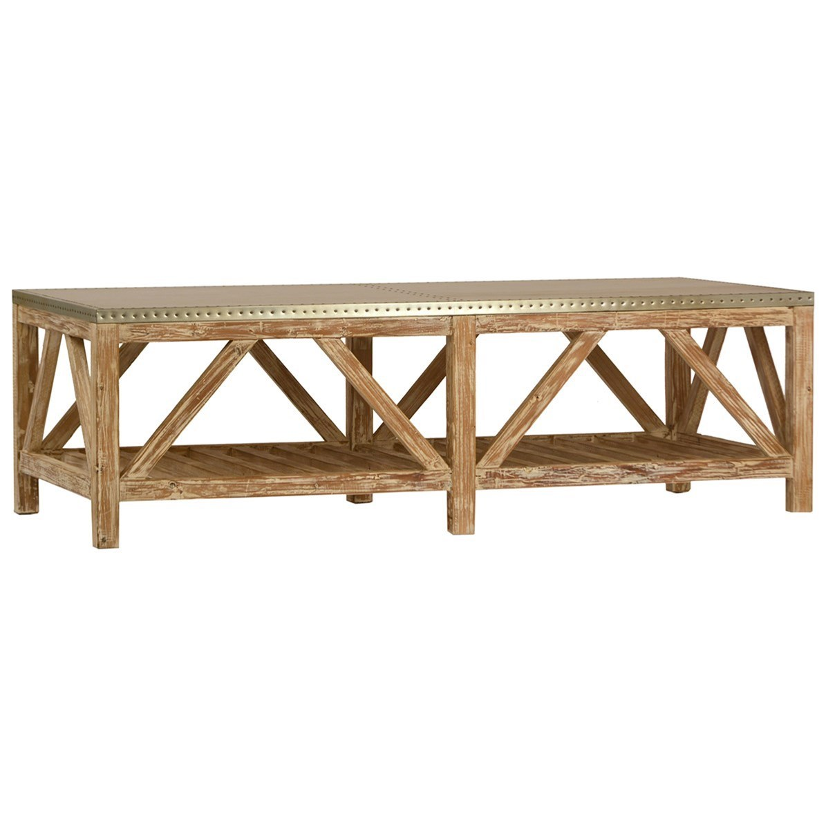 Living Clifton Coffee Table by Dovetail Furniture at Malouf Furniture Co.