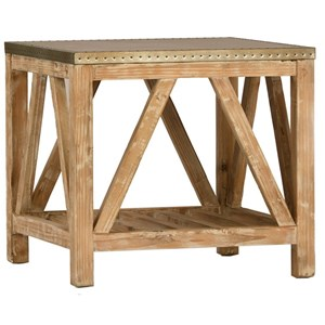 Clifton Side Table with Zinc Metal Top