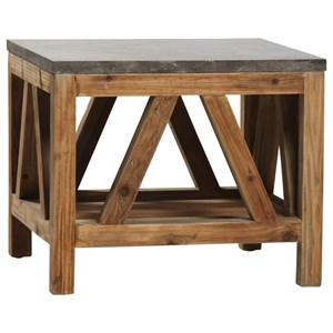Dagny End Table with Reclaimed Wood