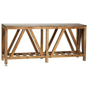 Dagny Sofa Table with Reclaimed Wood
