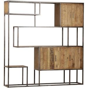 Industrial Wall Unit with Open Shelving