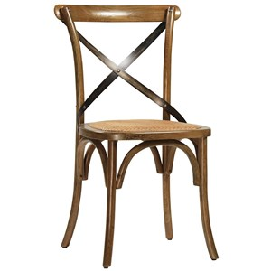 Portebello Dining Chair with Steel Cross Frame