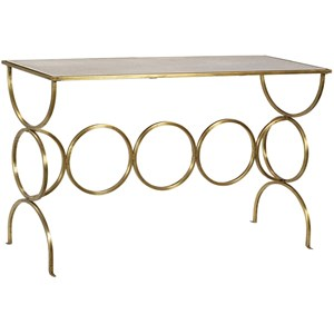 Console Table with Polished Marble Top