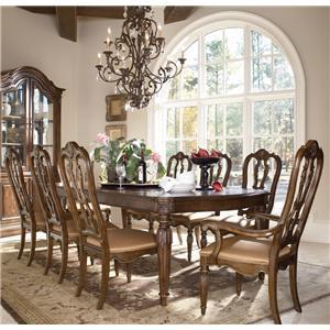 Drexel Casa Vita 9-Piece Giordano Dining Table Set