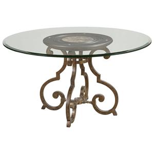 """Drexel Gourmet Dining Nouvelle Dining Table with 48"""" Glass Top"""