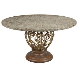 "Drexel Gourmet Dining Venezia Dining Table with 48"" Granite Top"