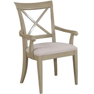 "Drexel Gourmet Dining ""X"" Arm Chair"