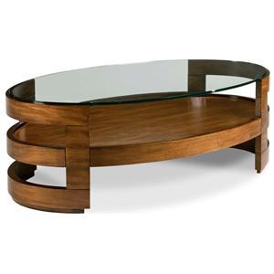 Drexel Renderings Eaves Oval Cocktail Table
