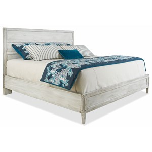 King Panel Bed with Low Footboard