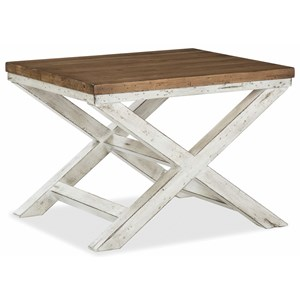 Cocktail Table with Crossed Legs