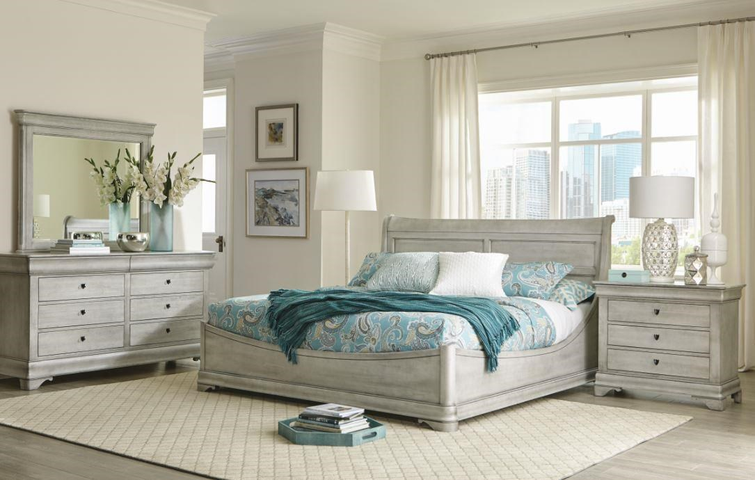 Chateau Fontaine Queen Euro Bed by Durham at Stoney Creek Furniture
