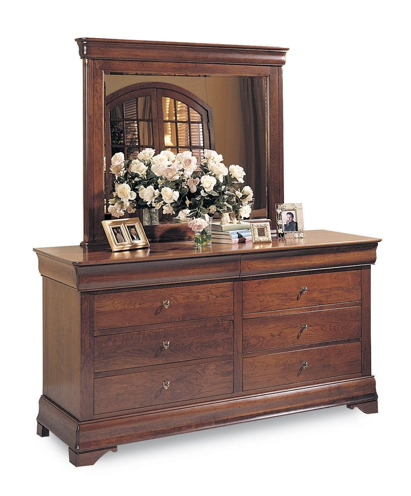 Chateau Fontaine Double Dresser & Mirror by Durham at Jordan's Home Furnishings