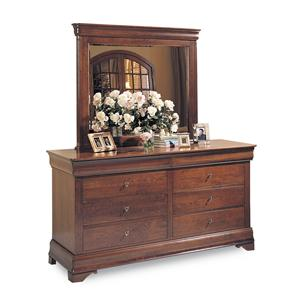 Durham Chateau Fontaine Double Dresser & Mirror Combo